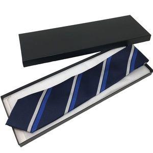 NWOT Tommy Hilfiger Stripe Silk Tie Navy Blue
